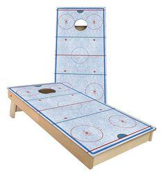 Hockey cornhole set
