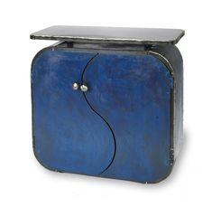 Night Sky Cabinet by Ben Gatski and Kate Gatski (Metal Cabinet) Local Hardware Store, Flower Ornaments, My Home Design, Spray Can, Metal Shelves, Soapstone, Milk Paint, Something Blue, Red Christmas