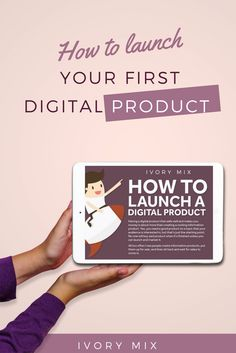 How to launch your first digital product for your blog business #selfmadetogether