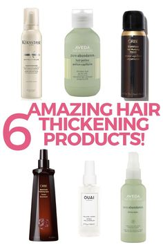 6 amazing hair thickening products for thin and fine hair! Such a great list. Definitely going to try one of these! Short Hairstyles Fine, Haircuts For Fine Hair, Cool Hairstyles, Kids Curly Hairstyles, Beach Hairstyles, Hairstyles Haircuts, Wedding Hairstyles, Damp Hair Styles, Medium Hair Styles
