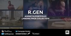 R.Gen - Agency Landing Page by R_GENESIS  R.Gen ¨C Agency Landing Page Collection is perfect suit for presenting your work or services smart and beautiful way. R.Gen ¨C Agency Landing Pages are a clean and modern landing pages which built with Bootstrap 3. It¡¯s include 6 r