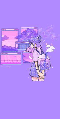 Pink Wallpaper Anime, Purple Wallpaper Iphone, Cute Pastel Wallpaper, Soft Wallpaper, Anime Scenery Wallpaper, Cute Patterns Wallpaper, Aesthetic Pastel Wallpaper, Kawaii Wallpaper, Galaxy Wallpaper