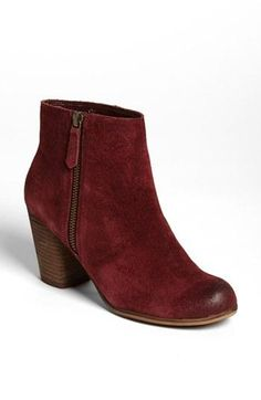 Trolley ankle boot in Oxblood