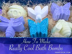 How to make really cool bath bombs with common household ingredients - step by step tutorial from NWEdible.com