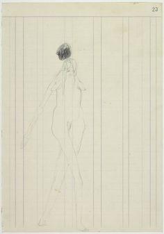 Joseph Beuys 'Woman with falling stone', 1959 © DACS, 2014
