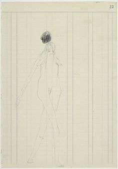 Joseph Beuys 'Woman with falling stone', 1959 © DACS, 2014