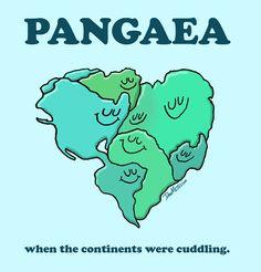 Pangaea = continents pre-breakup!