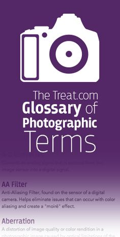 Useful glossary of photography terms.