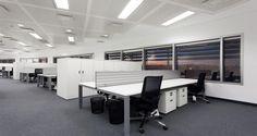 Open space dans les bureaux de Stanley Security à Lisbonne, Portugal