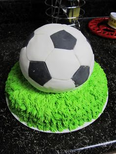 Netherlands soccer ball on top with piped grass?