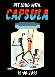 Cartel para la banda Capsula, Fermin Solis