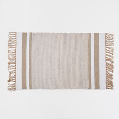 Image 2 of the product Golden striped cotton rug