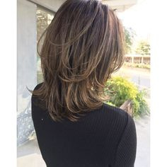 Pin on ヘアースタイル Medium Hair Cuts, Medium Hair Styles, Long Hair Styles, Bob Hairstyles, Braided Hairstyles, Thin Hair Updo, Mullet Hairstyle, Shot Hair Styles, Shoulder Length Hair
