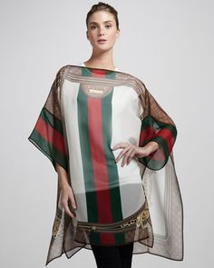 Silk Georgette Poncho by Gucci at Neiman Marcus.