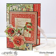 Scraps of Life: Graphic 45 - July Time to Flourish Project Sheet