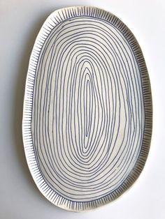 Image of porcelain lines platter