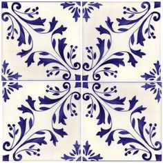 Sintra Antique Handpainted Portuguese tiles - -Madeira 4 tile
