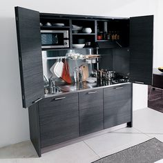 A small kitchen hideaway, perfect for a very small apartment or loft.
