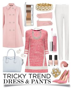 """""""Tricky Trend: Dress and Pants"""" by ittie-kittie ❤ liked on Polyvore featuring Dsquared2, STELLA McCARTNEY, Lattori, Gianvito Rossi, Oasis, Givenchy, Auden, Clinique, R.J. Graziano and Amrita Singh"""