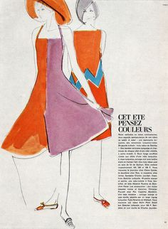 Mouchy Koski. Illustration for French Vogue. From Gebrauchsgraphik No. 2, 1966.