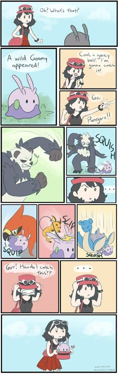 To catch a goomy ... goomy, talonflame, pangoro, raichu, lapras, pokemon