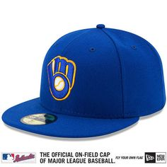 Milwaukee Brewers Hat by New Era Pro Image Sports at Mall of America All  on-field caps now made with enhanced performance fabric c643d83b9256
