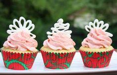 Burn Me Not: Strawberry-Vanilla Cupcakes filled with White Chocolate Ganache