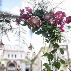 Unusual wedding ceremony arches and alters decor idea