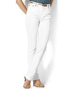 Lauren Jeans Co. Jeans, Classic Straight Leg White Wash - 2013