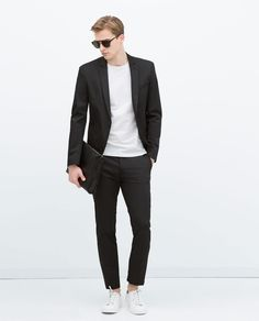BLACK TECHNICAL BLAZER-Blazers-MAN | ZARA Thailand | Wattana Viriyasitavat on…
