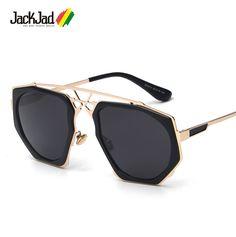 1a4953d4ae JackJad 2017 New Fashion Men Cool Irregular Shape Metal Frame Sunglasses  Popular Brand Design Vintage Sun Glasses Oculos De Sol-in Sunglasses from  Men's ...