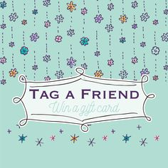 Tag a friend who you think would love our store! You   Your Friend will be entered win