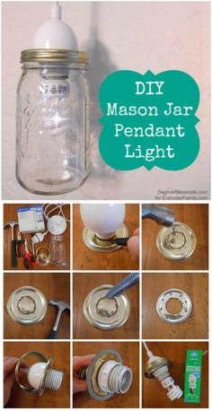 we have brought these 100 DIY pendant light projects, all are unique and have their own distinct charm! DIY Pendant lights just give a sharp focus of light Mason Jar Pendant Light, Diy Pendant Light, Pendant Lighting, Basket Lighting, Lighting Ideas, Backyard Water Parks, Light Project, Wire Baskets, Mason Jar Diy