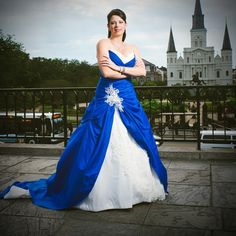 Find More Wedding Dresses Information about 2016 High Quality Sweetheart Plus Size Royal Blue And White Wedding Dresses With Lace Applique Ball Gown Custom Made LD216,High Quality dress sox,China dress r Suppliers, Cheap dress button from Viman's Fashion on Aliexpress.com