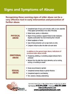 Final, Physical signs of emotional abuse in adults are not