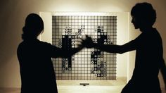 IRIS - display made out of a grid of monochromatic, transparent mnidisplays