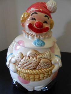 Vintage Cookie Jar Clown - Japan