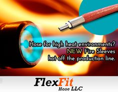 Fire sleeve for hose assemblies in high heat industrial environments - withstanding exposure to a constant temperature of up to 500°F. An industrial hose assembly protected with the fire sleeve can also withstand occasional flame during usage. The product insulates against energy loss in piping and hose assemblies. Engineers & technicians are protected by the firesleeve from exposure injuries, such as heat or flame related blisters and burns.