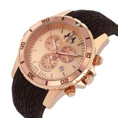 Rose gold is so stylish on this Jivago watch!
