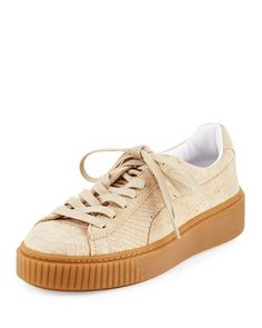 Snake-Embossed+Suede+Sneaker+by+Puma+at+Neiman+Marcus.