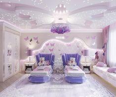 Bedroom False Ceiling Design, Luxury Bedroom Design, Home Room Design, Girl Bedroom Designs, Kids Room Design, Cool Kids Bedrooms, Cool Rooms, Baby Room Decor, Bedroom Decor
