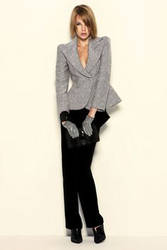 Image detail for -Women's Pants Suits Armani Fall(Autumn)2010 WOMEN'S fashion runways ... love the jacket!!