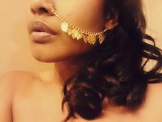MOOi gold leaf ear to nose chain Optional pierced by MOOijewelry, $16.99