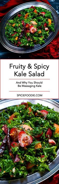 Why You Should Be Massaging #Kale | Plus a Fruity Kale Salad Recipe #vegan