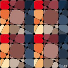 Rounded square pattern.