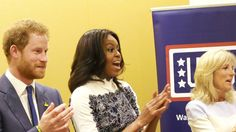 Prince Harry, First Lady Michelle Obama and Dr. Jill Biden stopped in at the USO Warrior and Family Center at Fort Belvoir, Virginia Music Therapy, Art Therapy, Fort Belvoir, Visual Art Lessons, Jill Biden, Working Class, Military Art, Michelle Obama, Prince Harry