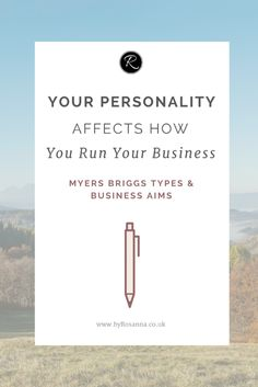 Your Personality Affects How You Run Your Business