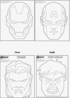 Mascara Thor  Moldes artesanato  Pinterest  Thor and Patterns