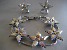 Vintage Tear Drop Flower Shaped Rhinestone by DianesStuffForYou, $48.00