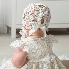 Poppy Christening Gown - Girls Lace Baptism Gown - Girls Blessing Gown – Baby Beau and Belle Girls Baptism Dress, Baby Girl Baptism, Baby Girls, Lace Christening Gowns, Baptism Gown, Godmother Dress, Poppy Dress, Flower Girl Dresses, Baby Dresses